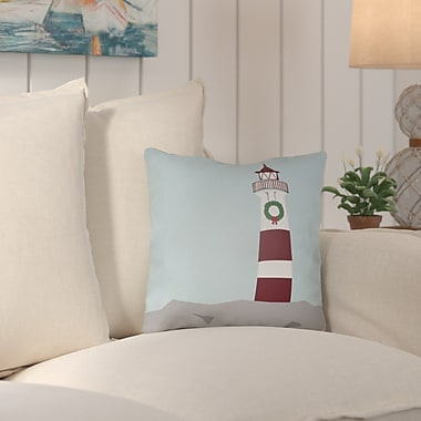 Breakwater Bay Carsdale Holiday Cove Indoor/outdoor Throw Pillow; 16'' H x 16'' W x 4'' D