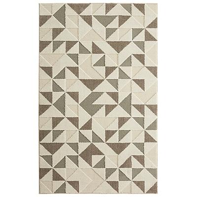 Brayden Studio Nickson Modern Triangles Gray/Cream Area Rug; 8' x 10'