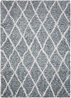Brayden Studio North Moore Hand-Tufted Gray/Ivory Area Rug; Rectangle 5' x 7'