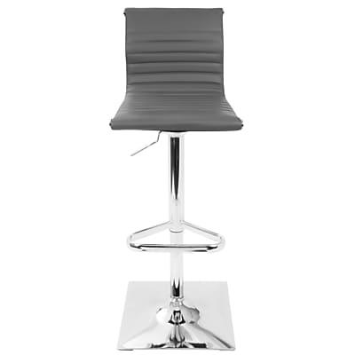 Brayden Studio Swihart Adjustable Height Swivel Bar Stool; Gray