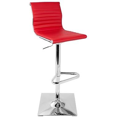 Brayden Studio Swihart Adjustable Height Swivel Bar Stool; Red