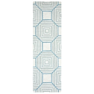 Brayden Studio Visser Hand-Tufted Light Gray Area Rug; 5' x 8'