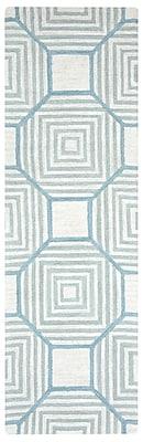 Brayden Studio Visser Hand-Tufted Light Gray Area Rug; Rectangle 10' x 14'