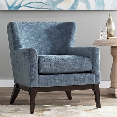 Brayden Studio Donohue Wingback Chair; Blue