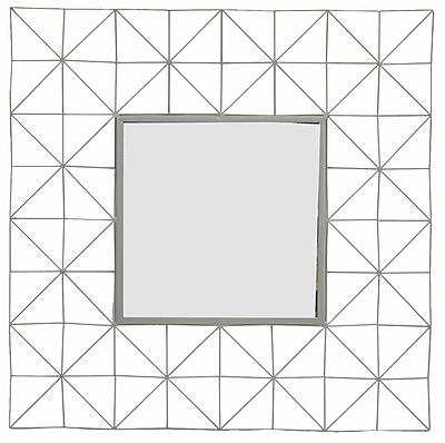 Brayden Studio Square Iron Accent Wall Mirror
