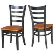 Breakwater Bay Bloomfield Solid Wood Dining Chair (Set of 2); Black/Cherry by