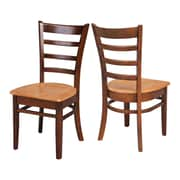 Breakwater Bay Bloomfield Solid Wood Dining Chair (Set of 2); Cinnamon/Espresso by