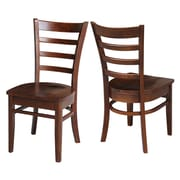 Breakwater Bay Bloomfield Solid Wood Dining Chair (Set of 2); Espresso by