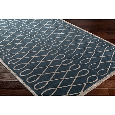 Breakwater Bay Cheshire Hand-Tufted Blue Area Rug; Rectangle 9' x 12'