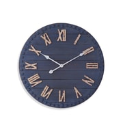 Breakwater Bay Round Blue 24'' Wall Clock