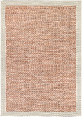 Brayden Studio Loranger Orange Indoor/Outdoor Area Rug; Runner 2'7'' x 8'2''
