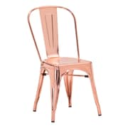 Brayden Studio Mucci Patio Dining Chair (Set of 2); Rose Gold
