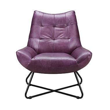 Brayden Studio Chaplin Lounge Chair; Purple
