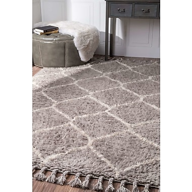 Brayden Studio Choi Hand-Tufted Gray Area Rug; 5' x 8'