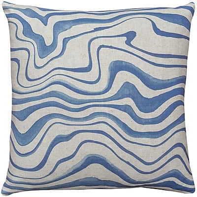 Brayden Studio East Drive Wave Throw Pillow; 16'' W X 16'' H x 6'' D