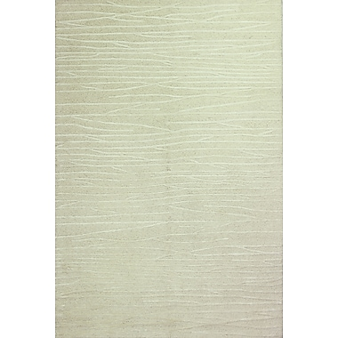 Brayden Studio Forsyth Road Hand-Tufted White Area Rug; Rectangle 3'7'' x 5'7''