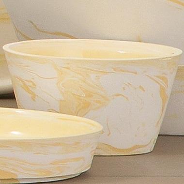Brayden Studio Indus Serving Bowl (Set of 3); Yellow