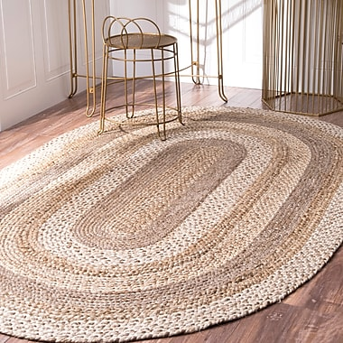 Breakwater Bay Ansonia Natural Area Rug; Oval 5' x 8'