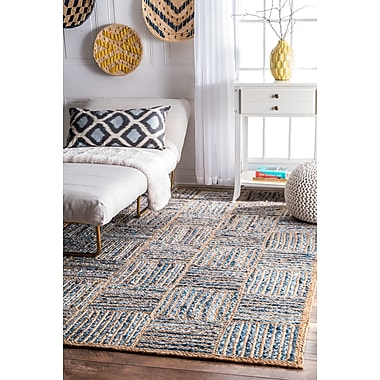 Breakwater Bay North AMonmouth Blue Area Rug; 7'6'' x 9'6''