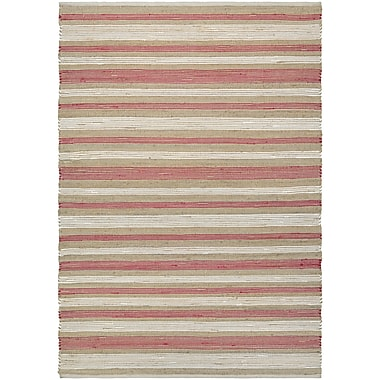 Breakwater Bay Hansville Awning Stripes Hand-Loomed Area Rug; 3' x 5'