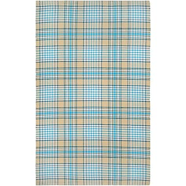 Breakwater Bay Bonifay Hand-Woven Blue/Yellow Area Rug; 3' x 5'