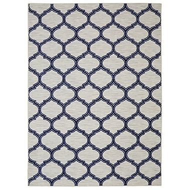 Breakwater Bay Whitherspoon Navy/Cream Area Rug; 5' x 7'