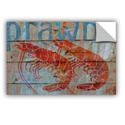 Breakwater Bay Prawn on Wood Removable Wall Decal; 32'' H x 48'' W x 0.1'' D
