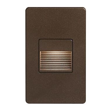 Brayden Studio Townes 1-Light Indoor/Outdoor Flush Mount; Bronze