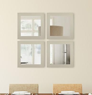 Brayden Studio Square Ivory Wall Mirror (Set of 4)