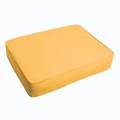 Brayden Studio Indoor/Outdoor Floor Pillow; Butter Yellow