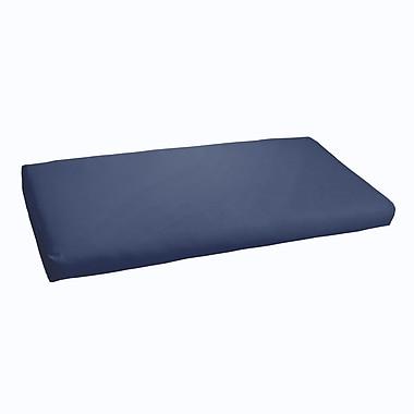 Brayden Studio Indoor/ Outdoor Bench Cushion; Dark Blue