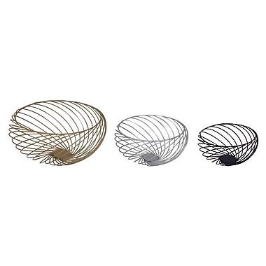Brayden Studio 3 Piece Round Metal Decorative Bowl Set