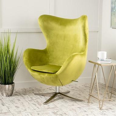 Brayden Studio Korinna Swivel Lounge Chair; Green