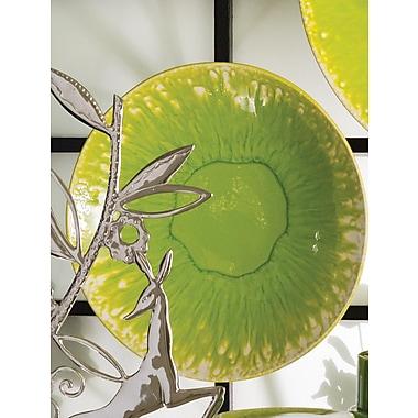 Brayden Studio Round Green Decorative Charger; 4'' H x 16'' W x 16'' D