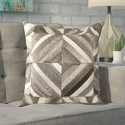 Brayden Studio Shaula Leather Pillow Cover