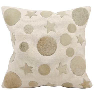 Brayden Studio Serpentis Natural Leather Hide Throw Pillow; Lilac