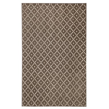 Brayden Studio Spuyten Walnut/Taupe Area Rug; Rectangle 5' x 8'