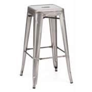 Brayden Studio Vogan Adjustable Height Bar Stool (Set of 2); Steel