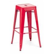Brayden Studio Vogan Adjustable Height Bar Stool (Set of 2); Red