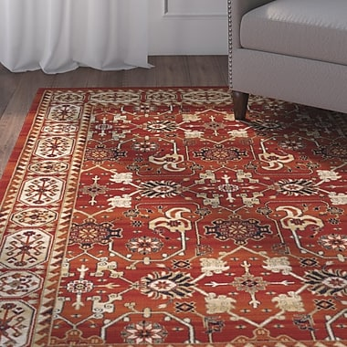 Charlton Home Borgen Burnt Orange Area Rug; 2' x 3' 3''