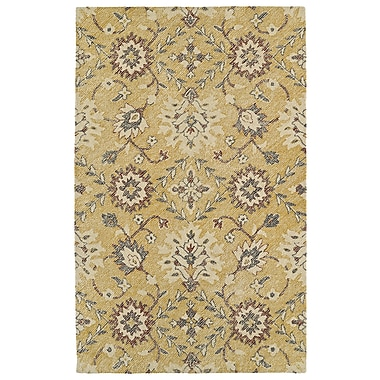 Charlton Home Fairhaven Handmade Gold Indoor/Outdoor Area Rug; 5' x 7'6''