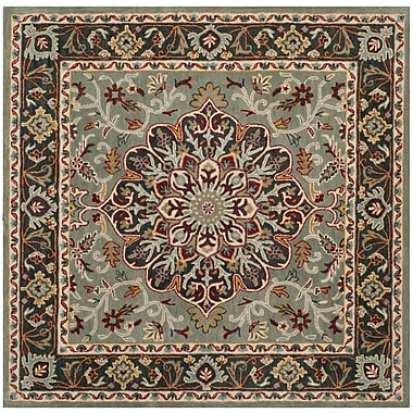 Charlton Home Cranmore Hand-Tufted Gray/Charcoal Area Rug; Square 6'
