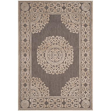 Charlton Home Parsons Taupe Area Rug; 4' x 6'
