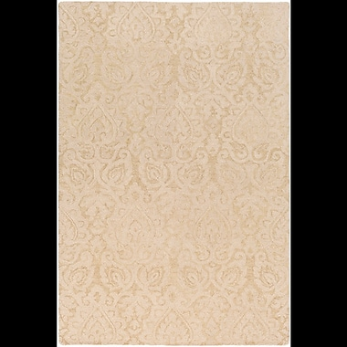 Charlton Home Russellville Hand-Hooked Neutral Area Rug; Rectangle 5' x 7'6''
