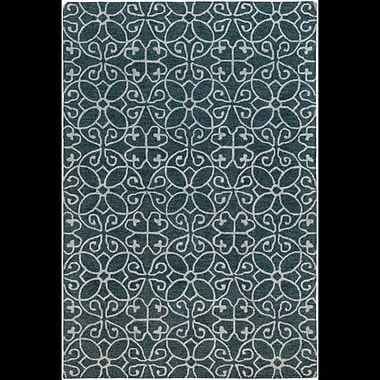 Charlton Home Russellville Hand-Hooked Blue/Gray Area Rug; Rectangle 2' x 3'