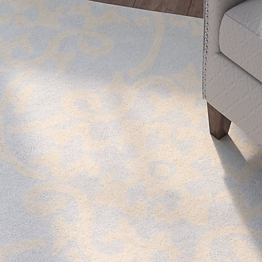 Charlton Home Millwood Hand-Tufted Pale Blue/Butter Area Rug; Rectangle 5' x 8'
