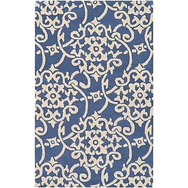 Charlton Home Millwood Hand-Tufted Violet/Butter Area Rug; Rectangle 8' x 11'