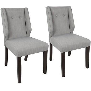 Brayden Studio Gonzalo Side Chair (Set of 2); Light Gray