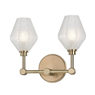 Brayden Studio Pridgen 2-Light LED Vanity Light; Aged Brass