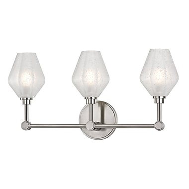 Brayden Studio Pridgen 3-Light LED Vanity Light; Satin Nickel